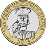 2014 £2 Royal Mint Kitchener Coin