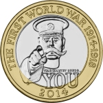 2014 £2 Royal Mint Kitchener Coin