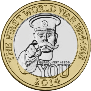 2014 wwi c2a32 single - A new Edith Cavell £2 Coin?