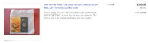eBay bid for Kew Gardens 50p