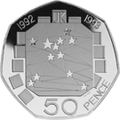 The 1992 EC Single Market 50p