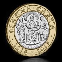 2015-UK-Magna-Carta-£2-BU-Coin-on-Angle