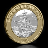 2015-UK-WWI-Navy-£2-BU-Coin-on-Angle