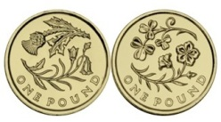 2014 floral one pound coins