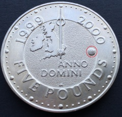 The Millennium £5 with Millennium Dome mintmark