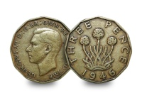 George VI Threepence