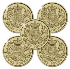 220X Royal Arms £1 x 5