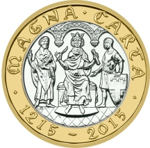 Magna Carta £2 front on