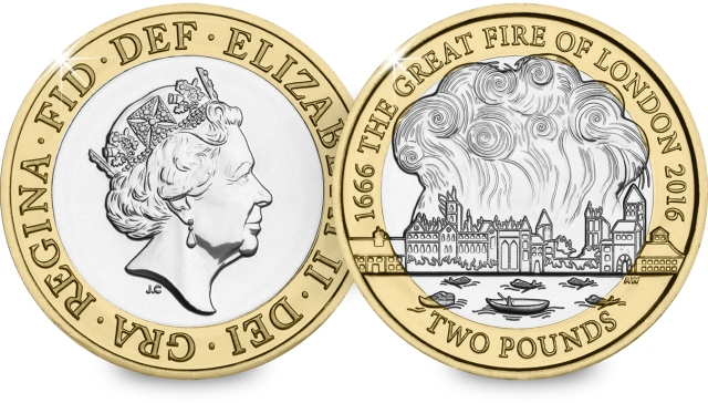 st 2016 great fire of london c2a32 bu coin both sides - What's your coin of the year?