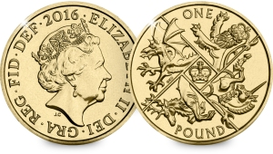 Next year's pound coin will be the very last round version before the new 12-sided shape in 2017