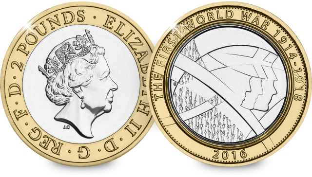 The 2016 UK WWI £2 Coin