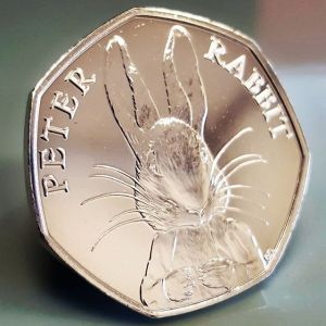The new Beatrix Potter Peter Rabbit 50p