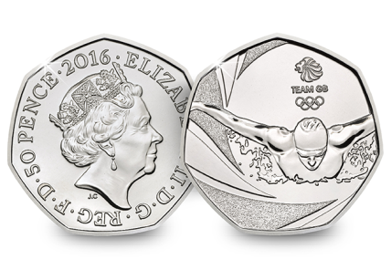 Team GB 2016 United Kingdom 50p BU Coin UKU01856.