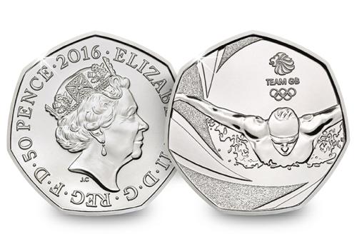 Team GB 2016 United Kingdom 50p BU Coin UKU01856.