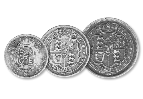 The first Silver Coins to enter circulation in 1816