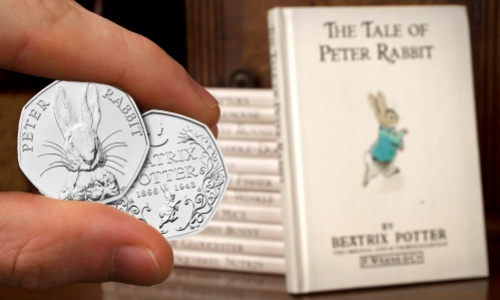 ST Beatrix Potter 50p Coins with Books