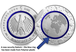 blue-planet-earth-german-5-euro-coin-arrow
