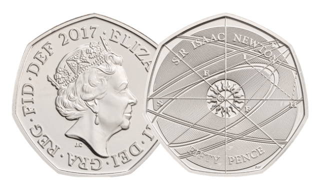 bu issac newton2 - First look: New Royal Mint UK coin designs for 2017