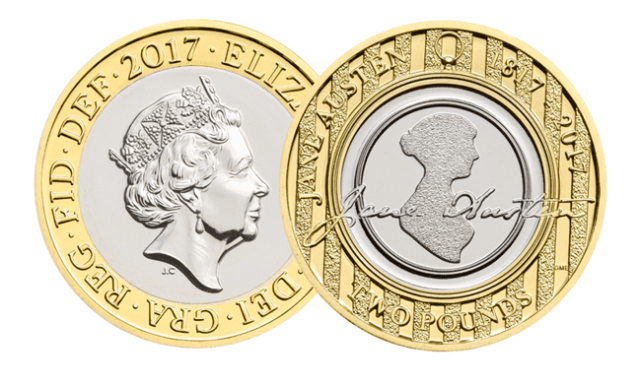bu jane austin1 - First look: New Royal Mint UK coin designs for 2017