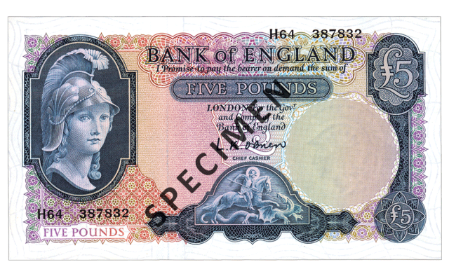 1957 c2a35 - Just 100 days left to spend your old £5 note