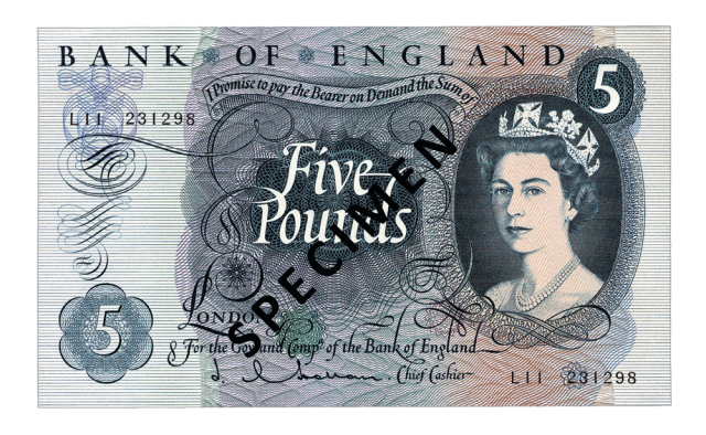 1963 c2a35 - Just 100 days left to spend your old £5 note