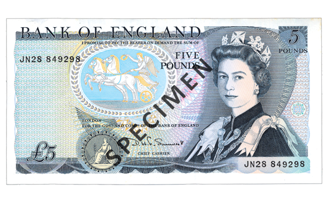 1971 c2a35 - Just 100 days left to spend your old £5 note