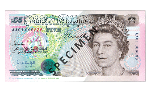 1990 c2a35 - Just 100 days left to spend your old £5 note