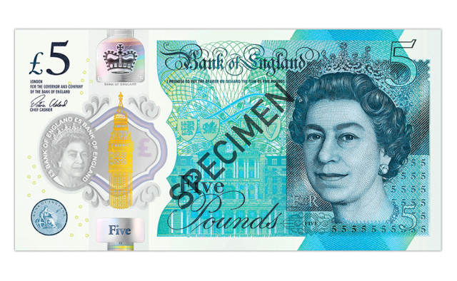 2016 polymer - Just 100 days left to spend your old £5 note
