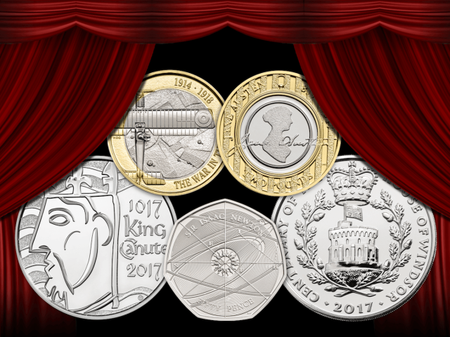 2017 commemorative coins curtain 1200x9002 - First look: New Royal Mint UK coin designs for 2017