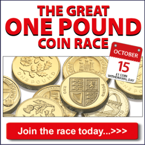 the great one pound coin race banner 350x3501 - Check your £1 coins before you spend…