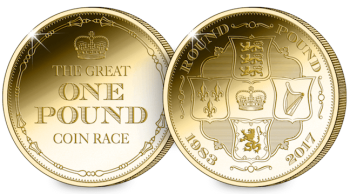 the great one pound coin race medal gold blog - 21 tips to complete your Great One Pound Coin Race
