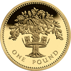 1987 c2a31 gilded oak - Poll: What is your favourite £1 Coin Design? – England