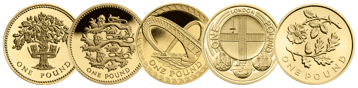 c2a31 coins in a row - Poll: What is your favourite £1 Coin Design? – England