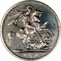 1951crownproofrev400 - Unprecedented release of bullion coin designs in base metal by Royal Mint