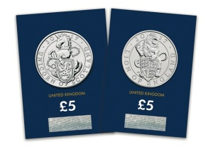 lion and unicorn coins packaged - Unprecedented release of bullion coin designs in base metal by Royal Mint