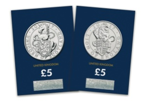 Unprecedented release of bullion coin designs in base metal by Royal Mint