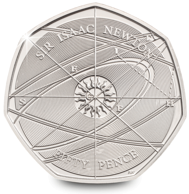 sir isaac newton 2017 uk 50p brilliant uncirculated coin both sides rev - Your favourite coin design of 2017 revealed!