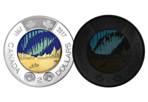 canada 2 dollars - Canada has just released the world's first glow-in-the-dark coin into circulation...