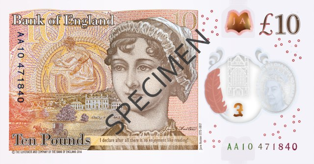 c2a310 note - The Jane Austen Polymer £10 notes to look out for...