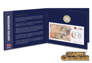 jane austen c2a310 note and coin - The Jane Austen Polymer £10 notes to look out for...